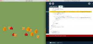 code while running