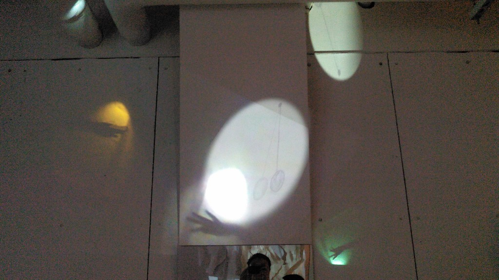 A frame from my hallucination projection in the space
