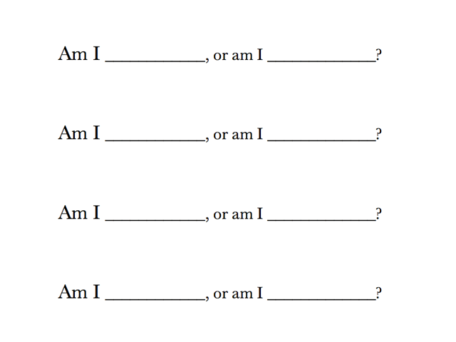 Format of the question