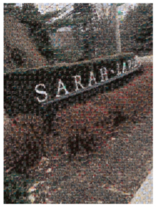 This is final mosaic of the SLC sign, using various photos of the SLC campus and students.