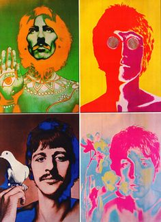 Andy Warhol's interpretation of The Beatles was a combination of psychedelia and pop art.
