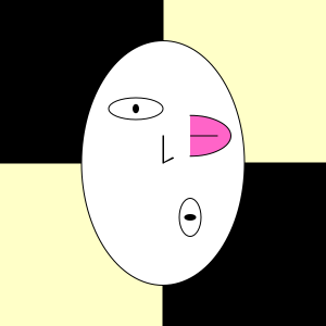 The original version of the self portrait before interactivity was added