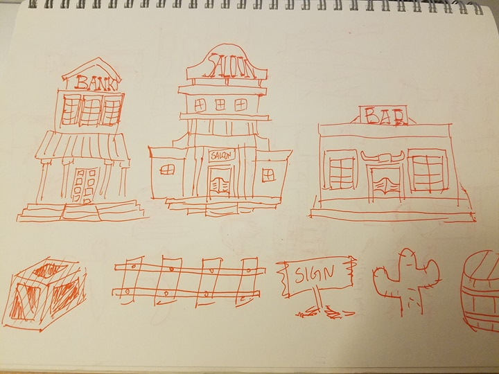 An early sketch for the game.